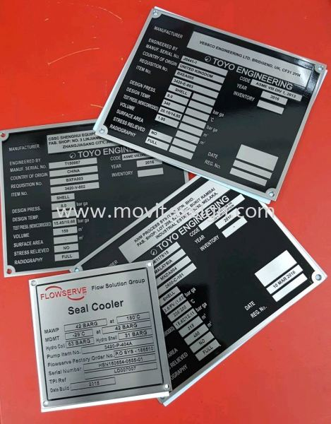 mechine plate with engrav number & size indication  Etachin / chemical Atachin plate Johor Bahru (JB), Johor, Malaysia. Design, Supplier, Manufacturers, Suppliers | M-Movitexsign Advertising Art & Print Sdn Bhd