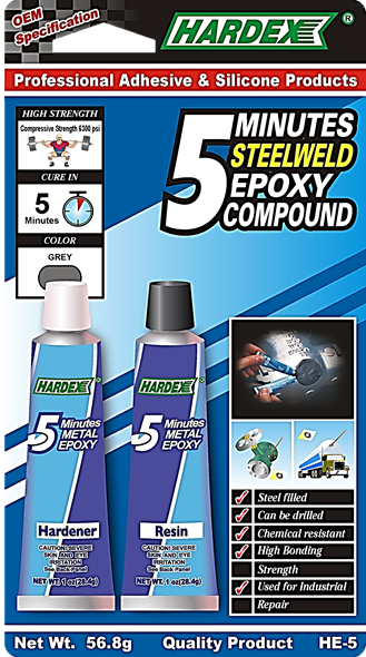 5 MINUTES METALWELD EPOXY COMPOUND HE 5 EPOXY COMPOUND Pahang, Malaysia, Kuantan Manufacturer, Supplier, Distributor, Supply   Hardex Corporation Sdn Bhd
