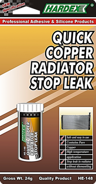 QUICK COPPER RADIATOR STOP LEAK HE 148 REPAIR MAINTENANCE Pahang, Malaysia, Kuantan Manufacturer, Supplier, Distributor, Supply | Hardex Corporation Sdn Bhd