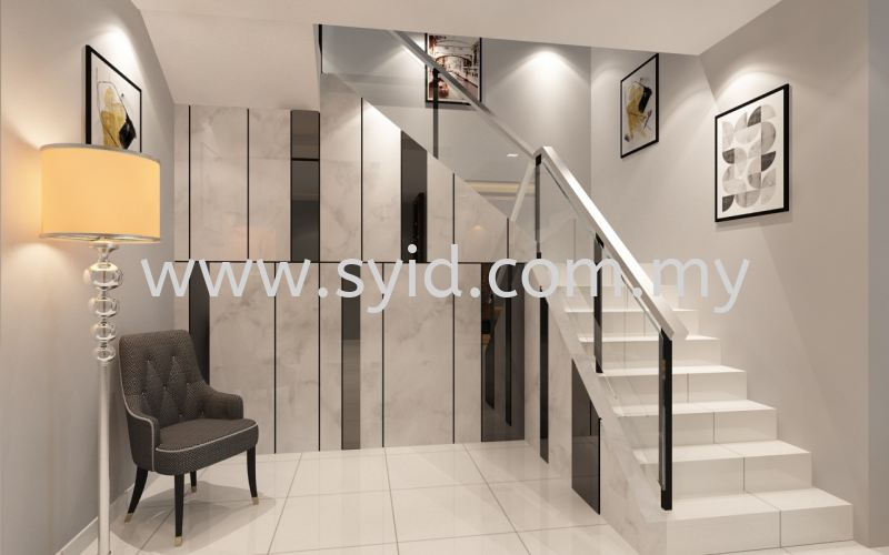 Staircase Design Johor Bahru (JB), Skudai, Taman Universiti Contractor, Service | SY Interior Design & Build