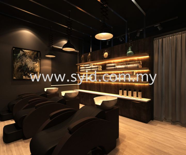 Hair studio design Johor Bahru (JB), Skudai, Taman Universiti Contractor, Service | SY Interior Design & Build