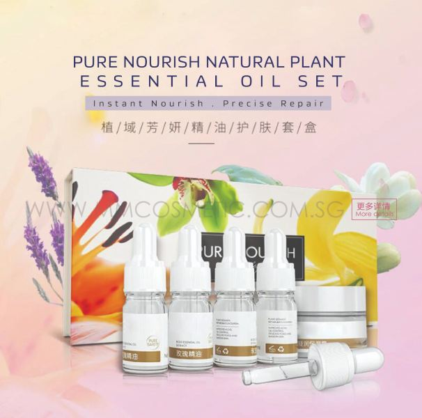 Pure Nourish Natural Plant Essential Oil Set NEW PRODUCT ODM / OEM Malaysia, Johor Bahru (JB), Singapore Manufacturer, OEM, ODM | MM COSMETIC SDN BHD
