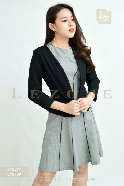 748277 V-NECK SIDE DETAIL JACKET ¡¾2ND 50%¡¿ Formal Jackets J A C K E T S Selangor, Kuala Lumpur (KL), Malaysia, Serdang, Puchong Supplier, Suppliers, Supply, Supplies | LE ZONE Signature