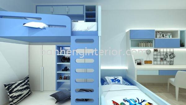 Children Bedroom Design  Bedroom Design Johor Bahru (JB), Johor, Skudai Service, Renovation, Construction   Ban Heng Interior Design Sdn Bhd