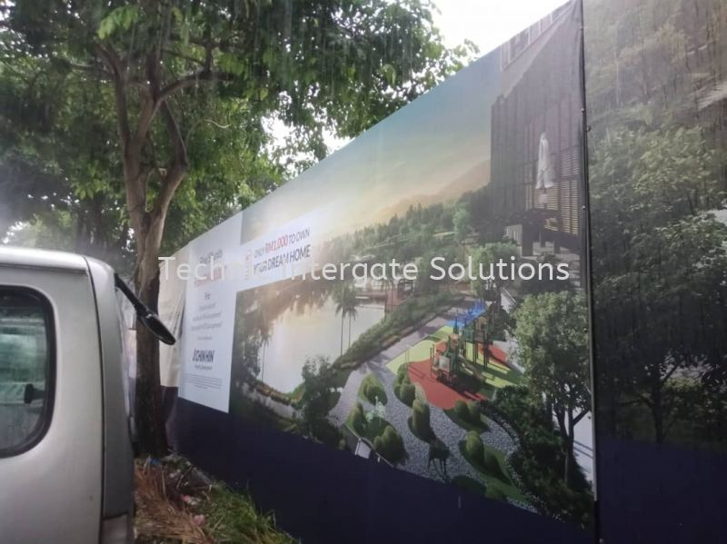 Construction Hoarding Sign  Hoarding Signage Kuala Lumpur (KL), Malaysia, Selangor, Mont Kiara Manufacturer, Supplier, Supply, Supplies | Intergate Solutions Sdn Bhd