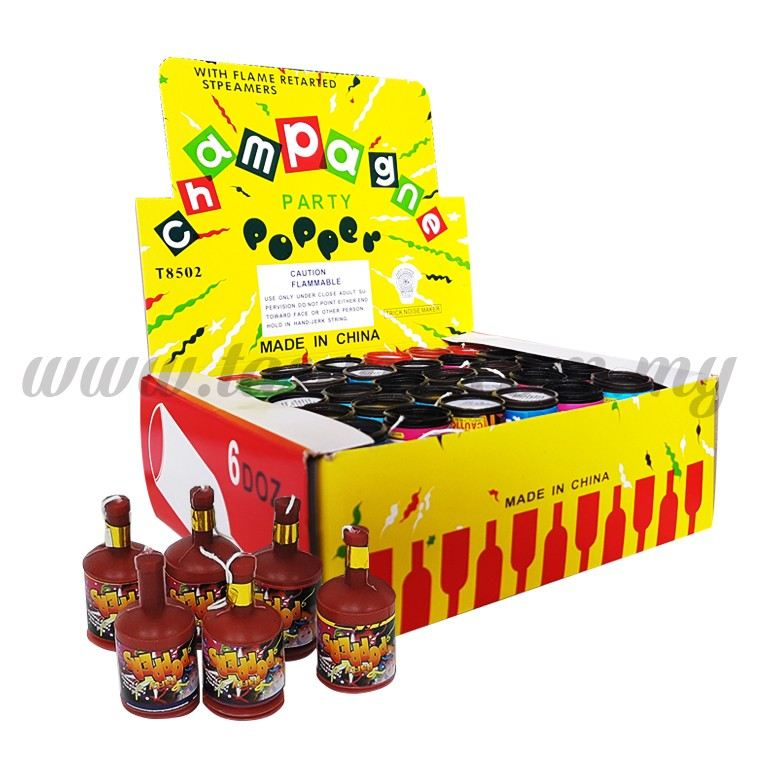 Champagne Poppers 1 Box 72pcs (F-CP72)