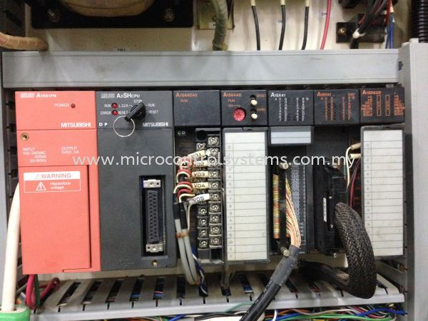 Mitsubishi A series PLC trouble shooting for Lapping machine. Mitsubishi PLC complete series trouble shooting PLC Systems Kuala Lumpur (KL), Malaysia, Selangor, Kepong Repair, Service, Maintenance | Micro Control Systems (M) Sdn Bhd