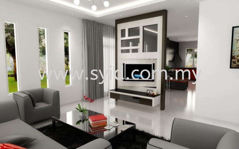 Living Hall Design Johor Bahru (JB), Skudai, Taman Universiti Contractor, Service | SY Interior Design & Build