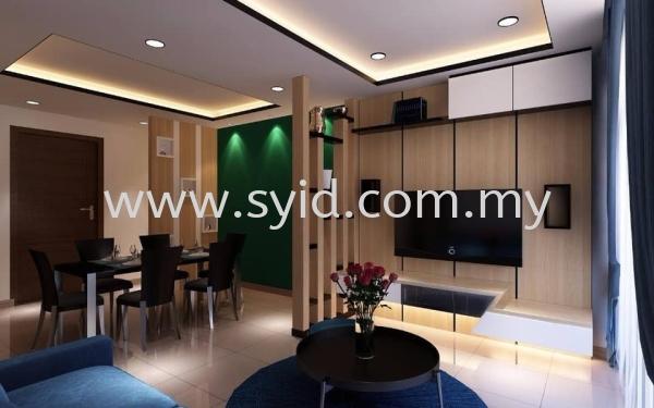 Living Hall Design Johor Bahru (JB), Skudai, Taman Universiti Contractor, Service   SY Interior Design & Build