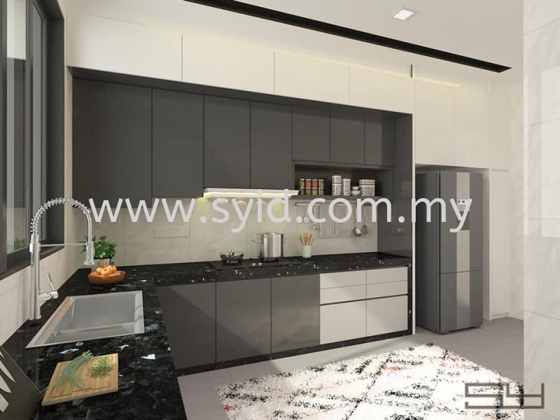 Wet/Dry Kitchen Design Johor Bahru (JB), Skudai, Taman Universiti Contractor, Service | SY Interior Design & Build