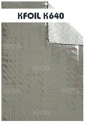 (K640) Single Sided Reflective Metalized Woven Film Single Sided Woven Foil Penang  | K Foil Insulation (Malaysia) Sdn Bhd