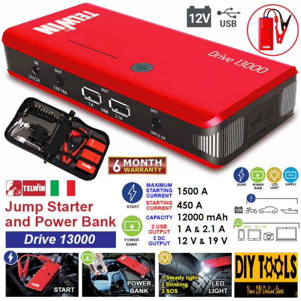 TELWIN 12V MULTIFUCTION COMPACT STARTER, DRIVE 13000 BATTERY CHARGER OTHER TOOLS Singapore, Kallang Supplier, Suppliers, Supply, Supplies   DIYTOOLS.SG