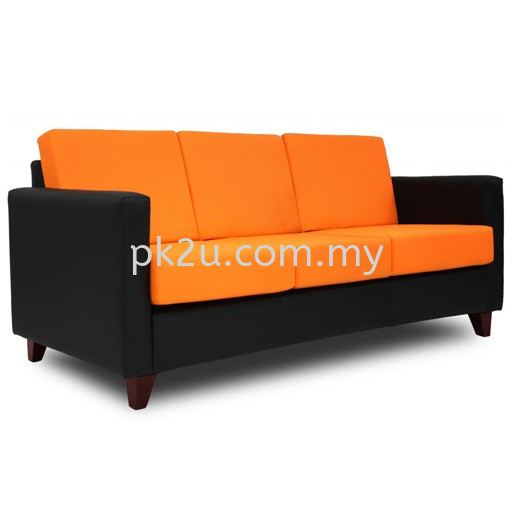 FOS-001-3S-C1-Karrell 3 Seater Sofa Sofa & Bench (Febric) Sofa & Lounge Seating Public Seating Johor Bahru, JB, Malaysia Manufacturer, Supplier, Supply | PK Furniture System Sdn Bhd