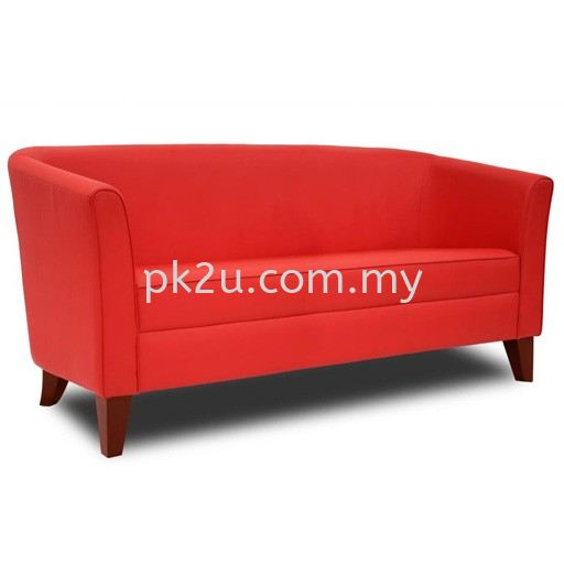 LOS-004-3S-C1- Enzo 3 Seater Sofa  Sofa & Bench (Leather) Sofa & Lounge Seating Public Seating Johor Bahru, JB, Malaysia Manufacturer, Supplier, Supply | PK Furniture System Sdn Bhd