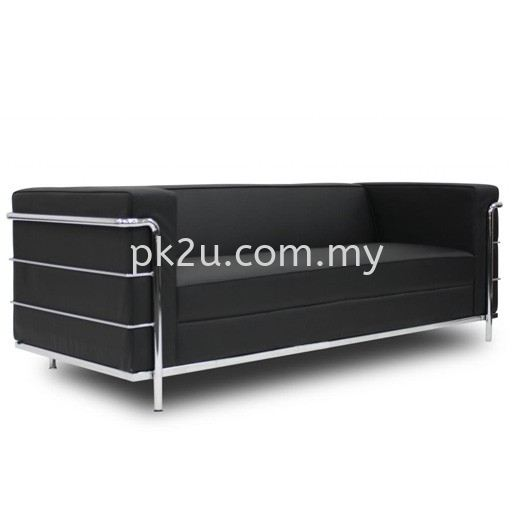 LOS-006-3S-C1- Confort 3 Seater Sofa Sofa & Bench (Leather) Sofa & Lounge Seating Public Seating Johor Bahru, JB, Malaysia Manufacturer, Supplier, Supply | PK Furniture System Sdn Bhd