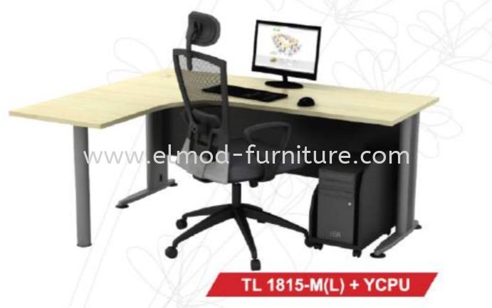 TL 1815-M (L) + YCPU T2 Series Office Table  Selangor, Kuala Lumpur (KL), Puchong, Malaysia Supplier, Suppliers, Supply, Supplies | Elmod Online Sdn Bhd