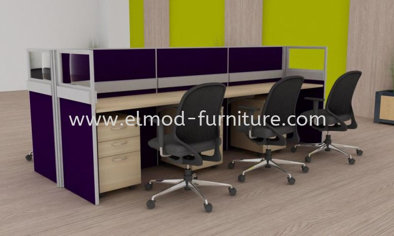 EL06-08 Cluster Of 6 Office Workstation  Selangor, Kuala Lumpur (KL), Puchong, Malaysia Supplier, Suppliers, Supply, Supplies | Elmod Online Sdn Bhd