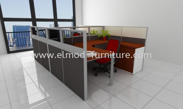 ELC2-06 Cluster Of 2 Office Workstation  Selangor, Kuala Lumpur (KL), Puchong, Malaysia Supplier, Suppliers, Supply, Supplies | Elmod Online Sdn Bhd