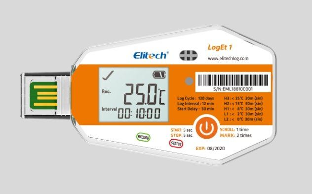 ELITECH LogEt 1/ LogEt 1TH/ LogEt 1Bio Single-Use PDF Data Logger  TEMPERATURE & HUMIDITY DATA-LOGGERS ELITECH LTD Singapore  | Futron Electronics Pte Ltd