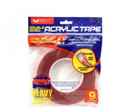 Unicorn - Double Sided Acrylic Tape - (15mm x  9yards )