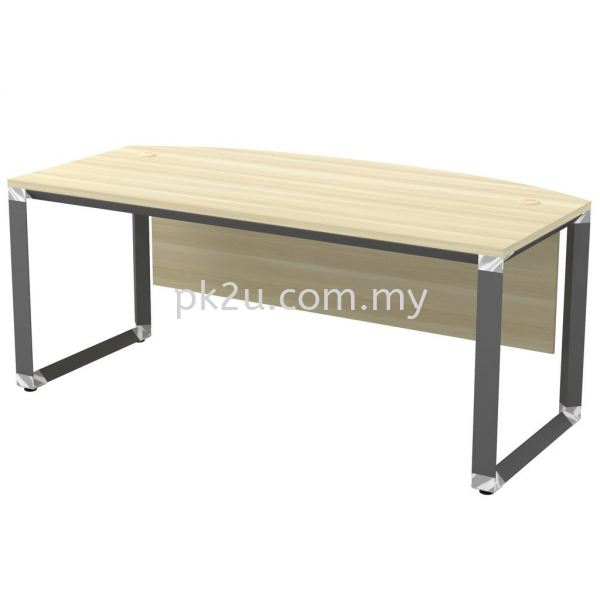 MT-OWB-180A (Wooden Panel) O-Series Metal Leg Office Table Office Table Johor Bahru, JB, Malaysia Manufacturer, Supplier, Supply | PK Furniture System Sdn Bhd