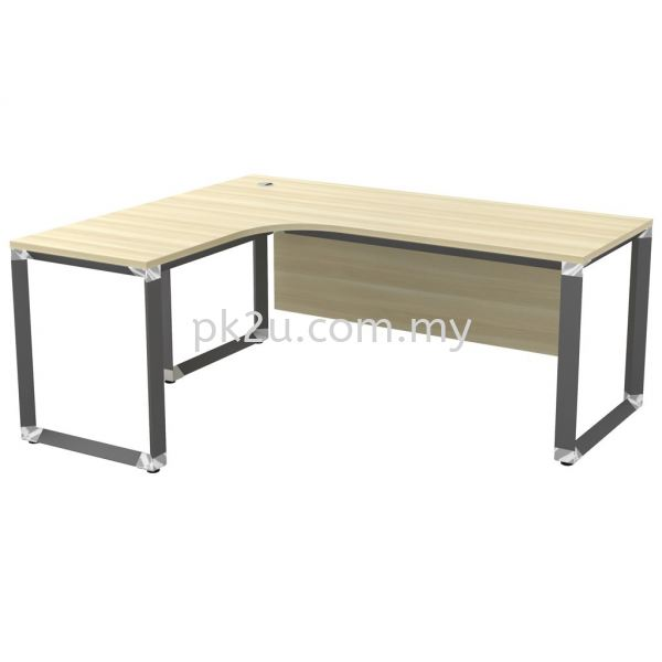 MT-OWL-1815 (Wooden Panel) O-Series Metal Leg Office Table Office Table Johor Bahru, JB, Malaysia Manufacturer, Supplier, Supply | PK Furniture System Sdn Bhd