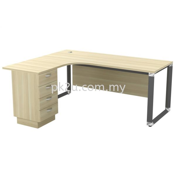 MT-OWL-1815-4D (Wooden Panel) O-Series Metal Leg Office Table Office Table Johor Bahru, JB, Malaysia Manufacturer, Supplier, Supply | PK Furniture System Sdn Bhd