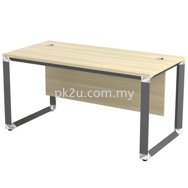 MT-OWT-187 (Wooden Panel) O-Series Metal Leg Office Table Office Table Johor Bahru, JB, Malaysia Manufacturer, Supplier, Supply | PK Furniture System Sdn Bhd