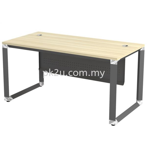 MT-OMT-187 (Metal Panel) O-Series Metal Leg Office Table Office Table Johor Bahru, JB, Malaysia Manufacturer, Supplier, Supply | PK Furniture System Sdn Bhd