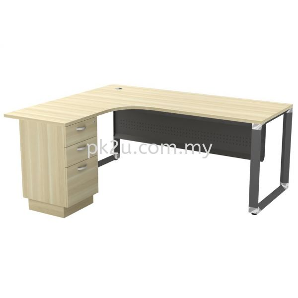 MT-OML-1815-3D (Metal Panel) O-Series Metal Leg Office Table Office Table Johor Bahru, JB, Malaysia Manufacturer, Supplier, Supply | PK Furniture System Sdn Bhd
