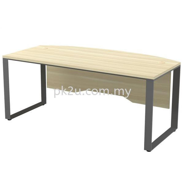 MT-SQWB-180A SQ82-Series Metal Leg Office Table Office Table Johor Bahru, JB, Malaysia Manufacturer, Supplier, Supply   PK Furniture System Sdn Bhd