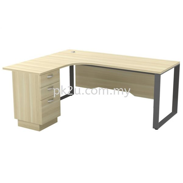 MT-SQWL-1815-3D SQ82-Series Metal Leg Office Table Office Table Johor Bahru, JB, Malaysia Manufacturer, Supplier, Supply | PK Furniture System Sdn Bhd