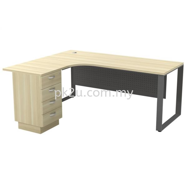 MT-SQML-1815-4D SQ82-Series Metal Leg Office Table Office Table Johor Bahru, JB, Malaysia Manufacturer, Supplier, Supply | PK Furniture System Sdn Bhd