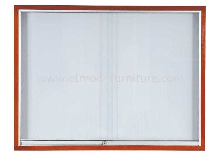 Sliding Glass Cabinet  Wooden Frame White Board / Display Board Selangor, Kuala Lumpur (KL), Puchong, Malaysia Supplier, Suppliers, Supply, Supplies   Elmod Online Sdn Bhd
