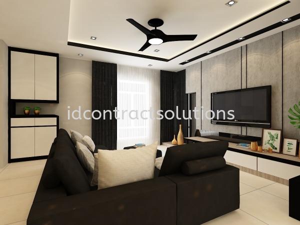Taman Bukit Baru Residential Interior Design Melaka, Selangor, Malaysia, Kuala Lumpur (KL), Shah Alam Service | ID Contract Solutions Sdn Bhd