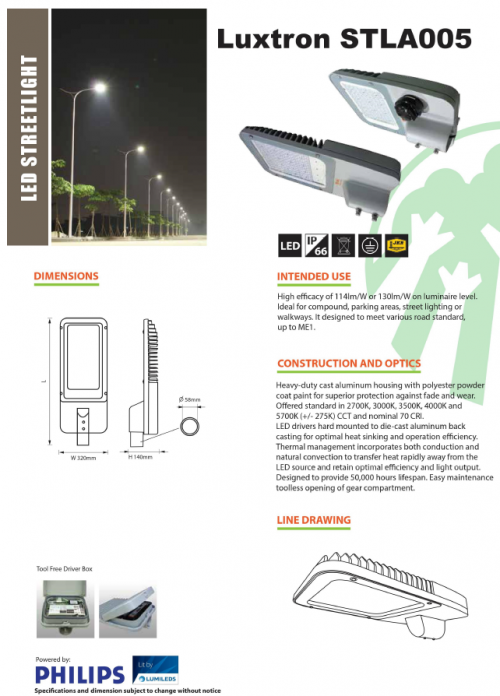 HI-BEAM STLA005 LED STREET LIGHTS
