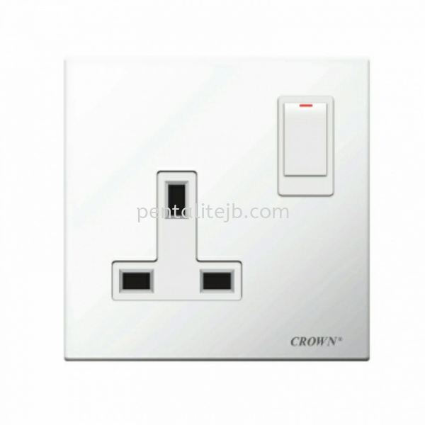 CE813SB 13A 1G Flush Switch Socket  CROWN (CE-SERIES) Switch/Socket Johor Bahru, JB, Johor Jaya, Johor. Supplier, Suppliers, Supply, Supplies   Pentalite Electrical Sdn Bhd