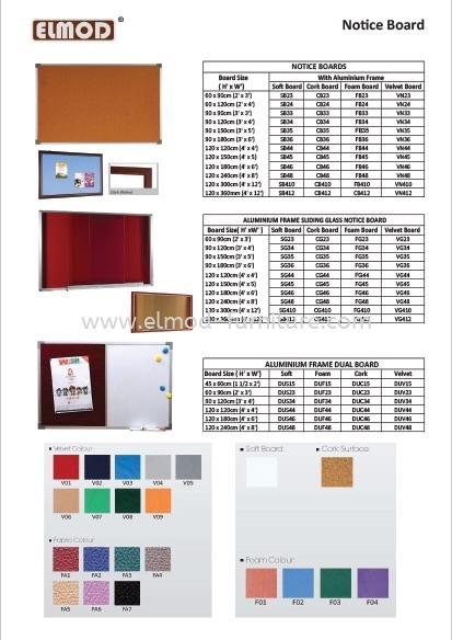 White Board / Display Board Selangor, Kuala Lumpur (KL), Puchong, Malaysia Supplier, Suppliers, Supply, Supplies   Elmod Online Sdn Bhd