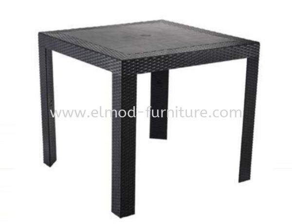 ODT111 Square PP Rattan Table Outdoor Furniture Selangor, Kuala Lumpur (KL), Puchong, Malaysia Supplier, Suppliers, Supply, Supplies | Elmod Online Sdn Bhd