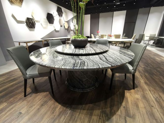 Round Marble Dining Table For 8-10 seater
