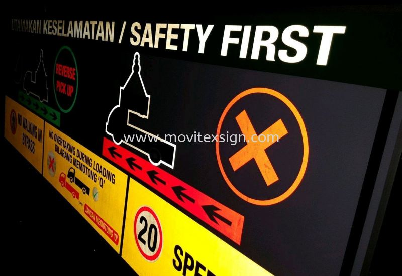 Reflective Sign guide people from anywhere in a building to a place of relative safety for emergency escape to the assembly area, it cannot be assumed that everyone will know all the safe routes through the building Signboard / Lighting Signboard  Johor Bahru (JB), Johor, Malaysia. Design, Supplier, Manufacturers, Suppliers | M-Movitexsign Advertising Art & Print Sdn Bhd
