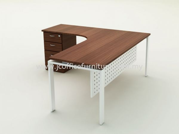 U-LEG L SHAPE - COLOR SW-INDIANA EBOXY EXECUTIVE TABLE OFFICE FURNITURE / WORKSTATION Selangor, KL, Puchong, Malaysia. Manufacturer, Supplier, Supply, Supplies | JC Team Office Solution