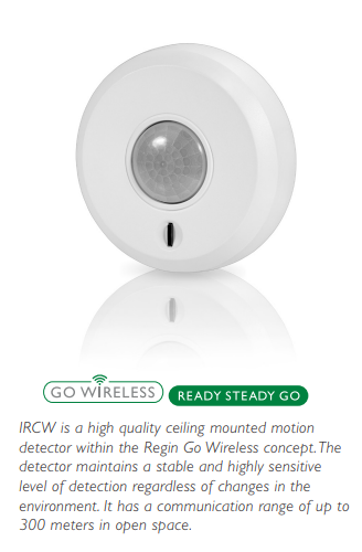 IRCW -Wireless ceiling mounted motion detector