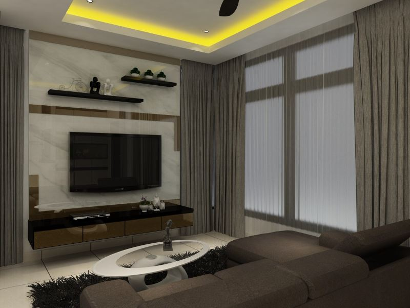Living Hall Design - Selangor Interior Design Contractor - Kuala Lumpur 3D Design Drawing   | HomeBagus - Home and Deco ONLINE EXPO!