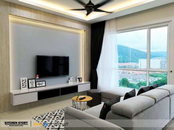 Living Room TV Cabinet T.V Cabinets / Consoles Penang, Malaysia, Bayan Lepas Kitchen, Design   Kitchen Story Sdn Bhd