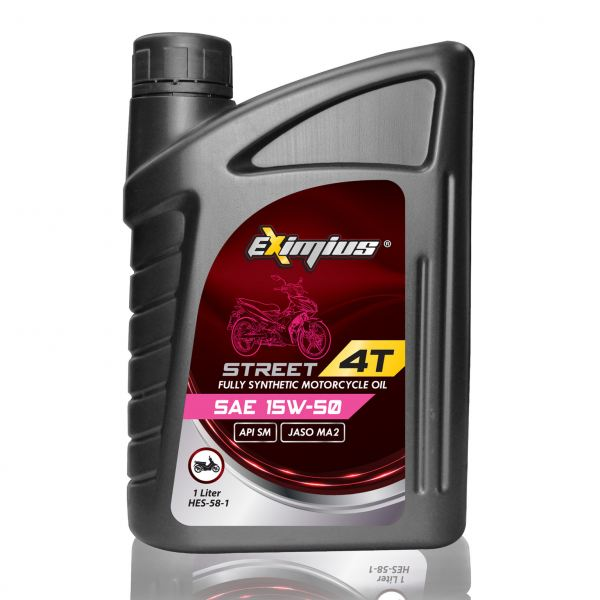EXIMIUS STREET 15W-50 EXIMIUS STREET SERIES FULLY SYNTHETIC MOTORCYCLE ENGINE OIL LUBRICANT PRODUCTS Pahang, Malaysia, Kuantan Manufacturer, Supplier, Distributor, Supply | Hardex Corporation Sdn Bhd
