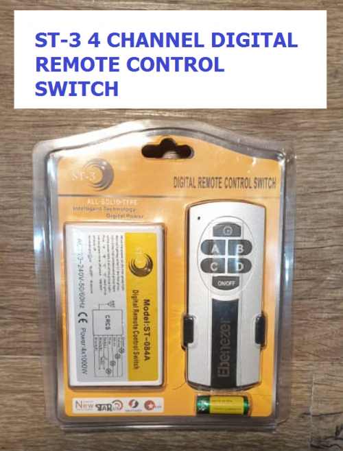 ST-3 4 CHANNELS DIGITAL REMOTE CONTROL SWITCH