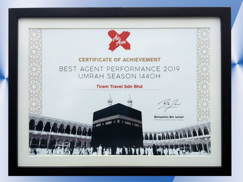 BEST AGENT PERFORMANCE 2019 / 1440H BERITA TERKINI Johor Bahru JB Malaysia Packages, Services | Tiram Travel Sdn Bhd
