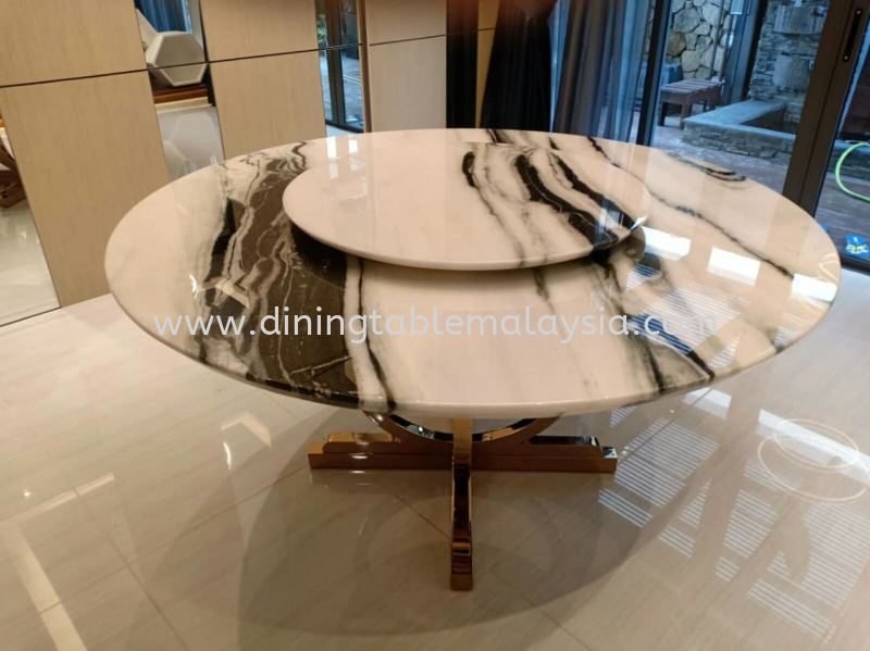 Modern Marble Dining Table - Panda White Marble Marble Dining Table Malaysia, Selangor, Kuala Lumpur (KL), Petaling Jaya (PJ) Supplier, Suppliers, Supply, Supplies | DeCasa Marble Sdn Bhd