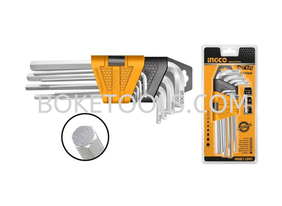 (AVAILABLE IN PIONEER BRANCH) INGCO HHK11091 Hex key HEX KEY HAND TOOLS  POWER TOOLS - INGCO Singapore, Ang Mo Kio. Supplier, Supply, Manufacturer, Wholesaler, Rental | Boke Tools Machinery Pte Ltd